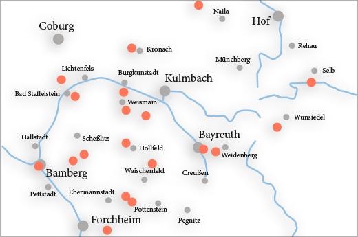Oberfranken Karte.Vergessene Orte In Oberfranken